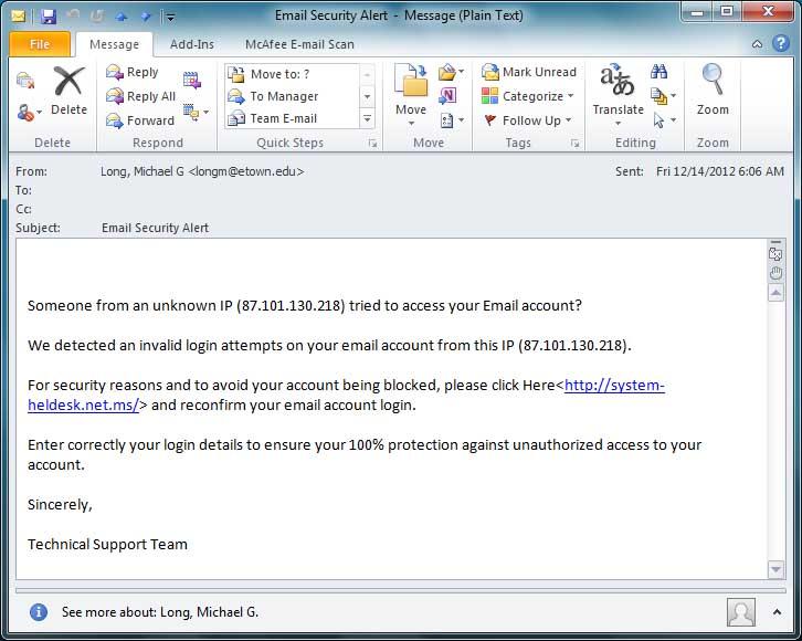 Account/Password Phishing information   intranet bloomu edu