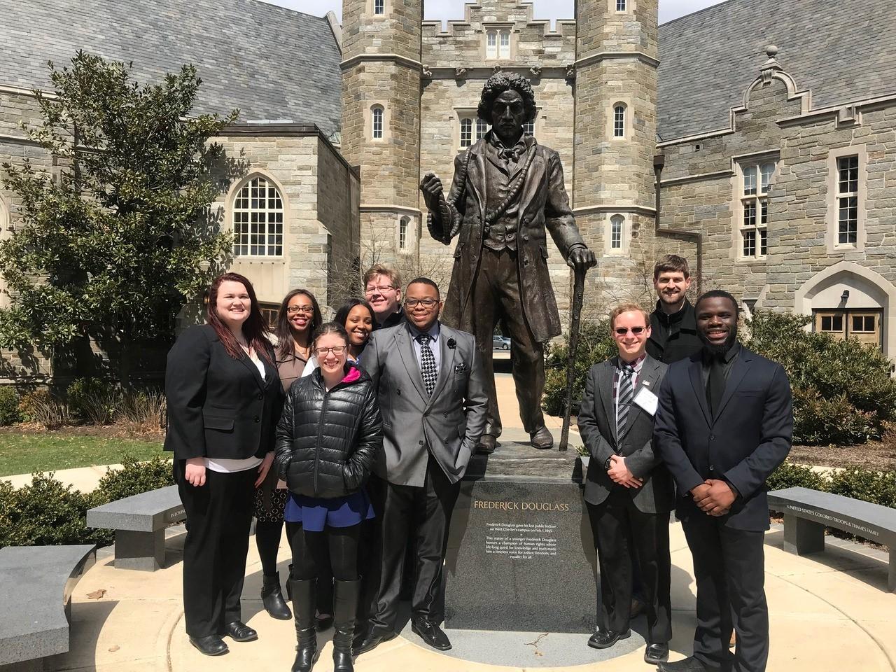 2018 Team Photo with Frederick Douglass Statue