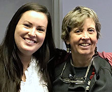 Bloomsburg University Honors Program staff, Carly Morton and Dr. Julie Vandivere