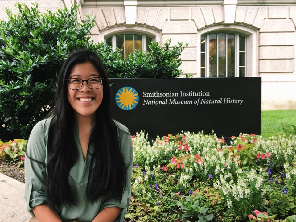Keara at Smithsonian internship