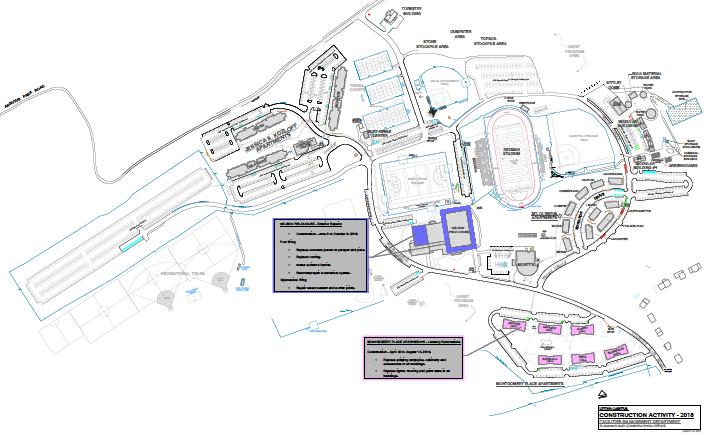 Upper Campus Construction Activity