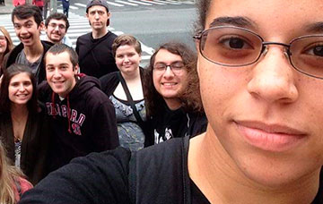 Bloomsburg University Honors students traveling in New York