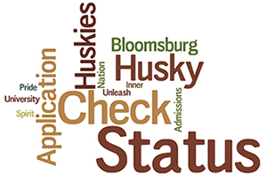 Bloomsburg University Admissions Application Status