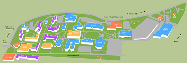 Campus Map | intranet.bloomu.edu