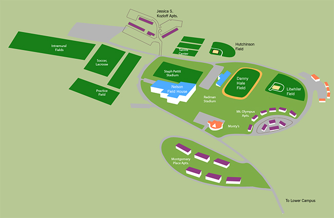 Upper Campus Map