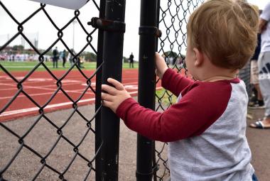 Child Watching Football