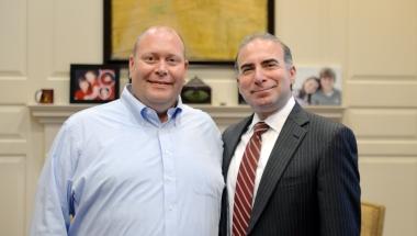Brad Swenson and President Bashar Hanna